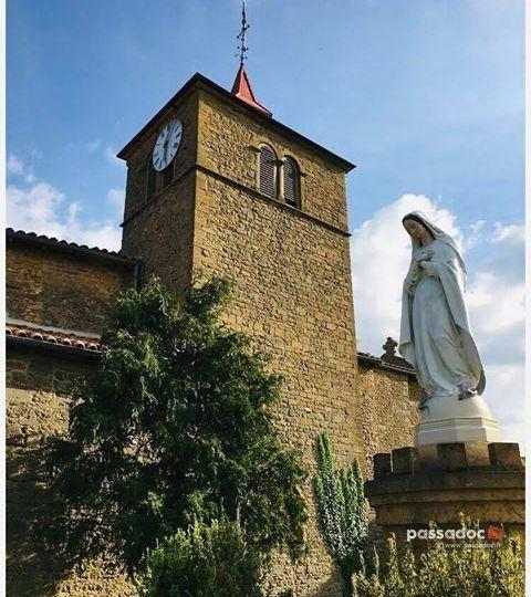 Chapelle castrale et vierge - Oingt Rhône - Photo Jean-Marie CANOVAS