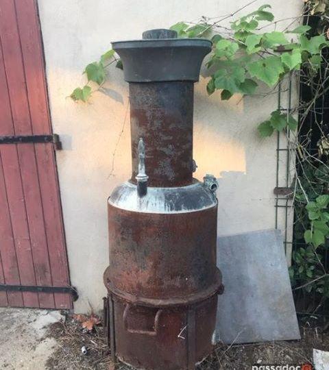 Poêle à bois pour eviter le gel dans les vignes, fabriqué par Piquemal à Carcassonne (Aude)