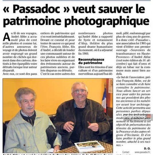 Var Matin Nice Matin article Passadoc 2016-12-28-L