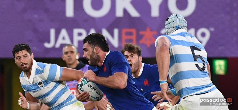 rugby france argentine coupe du monde japon 2019 - Le Français Charles Ollivon face aux Pumas argentins lors du premier match du XV de France à Tokyo Japon le 21 septembre 2019 FRANCK FIFE AFP