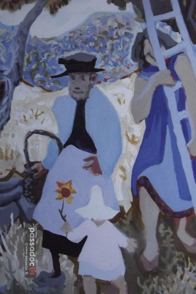 Peinture de Henri Pertus - La Cueillette