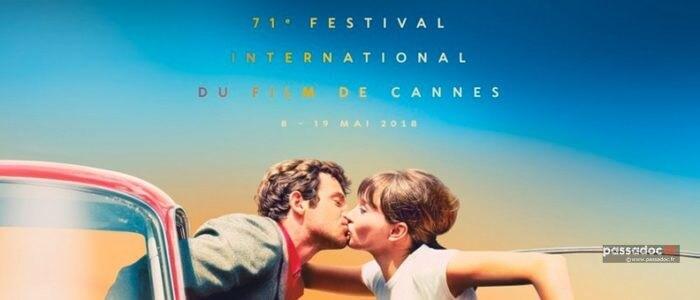 Baiser Anna Karina et Jean Paul Belmondo - Film Pierrot le Fou de Jean-Luc Godard - sur l affiche du Festival de Cannes 2018