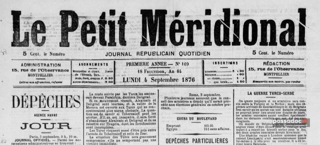 Couverture du journal le petit méridional de Toulouse