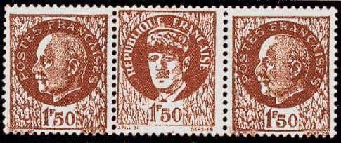 Timbre Général de Gaulle 1942