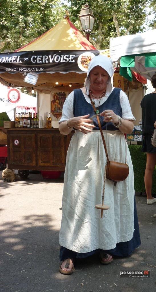 Claude Pluchard en costume aux Médiévales des Arcs sur Argens (Var)