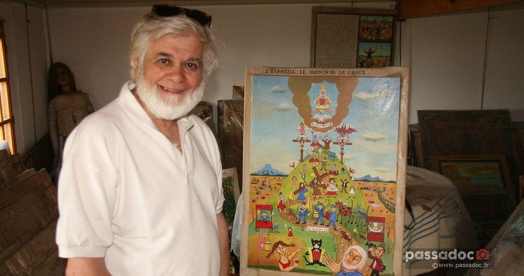 Peinture Gerard Lattier - Bête du Gévaudan - photo André Abbe