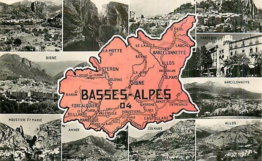 Carte postale photos anciennes Basses Alpes - Alpes de Haute Provence - Digne Castellane Manosque Allos - source Collection JFM